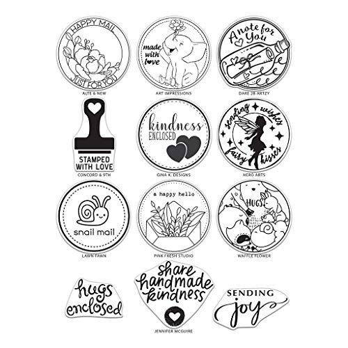 Hero Arts TSV0119 Clear Stamp Set, Mail Delivery by The Stamping Village, 6