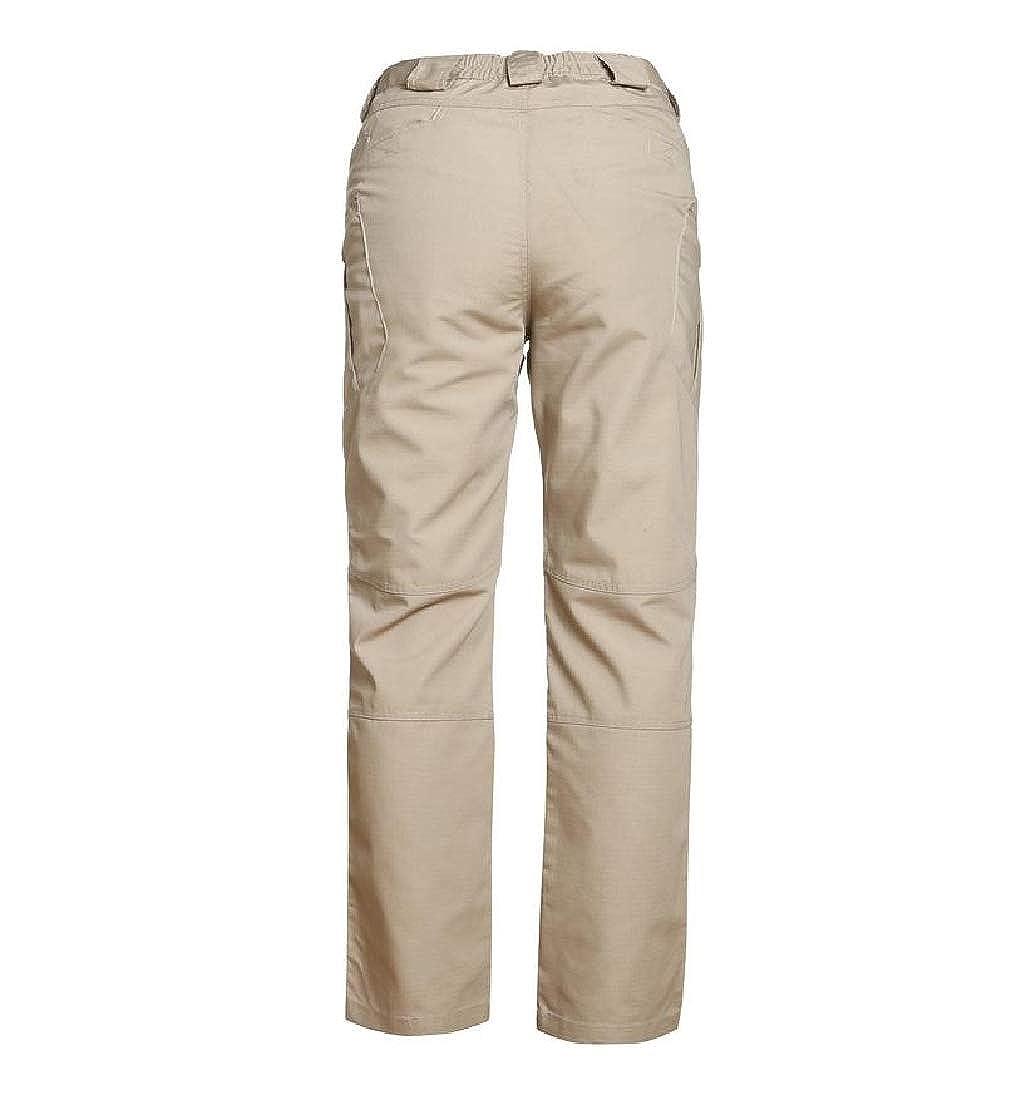 YUNY Mens Military Camo Straight Leg Casual Trousers Loose Cargo Pants Khaki L