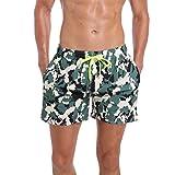 ORANSSI Men's Quick Dry Swim Trunks Boardshort Bathing Suit Beach Shorts (Large/38-40 Waist, Camo)