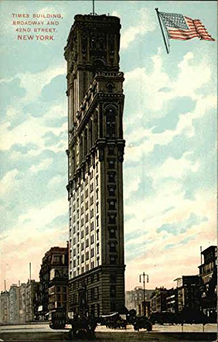 Times Building, Broadway and 42nd Street New York, New York Original Vintage - And Broadway 42