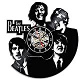 Cheap Unique The Beatles Wall Clock Made With Vinyl Record