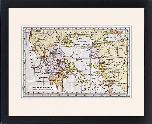 Framed Print Of Map Of Ancient Greece