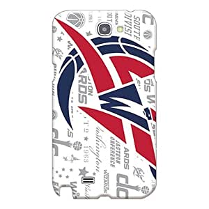 Shock Absorption Cell-phone Hard Covers For Samsung Galaxy Note 2 (sTd15355lhkU) Provide Private Custom Stylish Washington Wizards Pictures