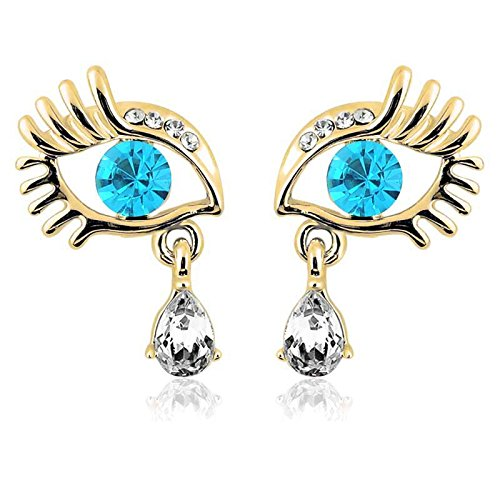 Fan Expo Costumes (Crystal Eyes Rhinestone Ear Drop Shiny Earrings For Women)