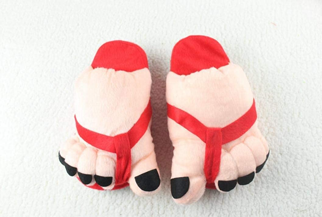 Red JaHGDU Ladies Casual Cute Toes Style Appearant Slippers Super Soft Plush Paws Comfortable Special Design Home Leisure Cotton Slippers