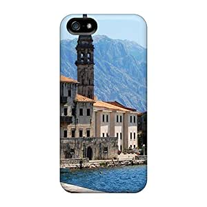 High Quality LastMemory Coastal Greek Village By The Mountains Skin Case Cover Specially Designed For Iphone - 5/5s