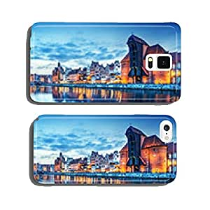 Gdansk, Poland old town, Motlawa river. Famous Zuraw crane cell phone cover case Samsung S6