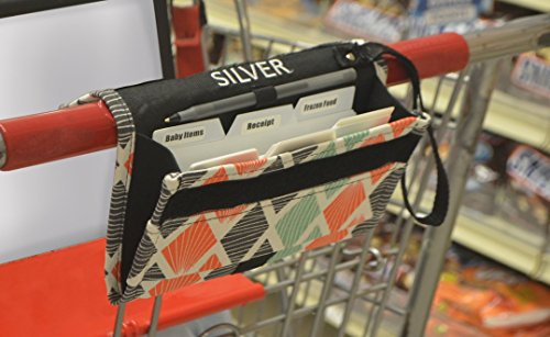 Grocery Coupon Organizer Binder & Coupon Holder Includes pen holder and wrist wrap by Silver