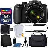 Nikon COOLPIX P600 Digital Camera (Black) + Transcend 16GB SDHC Memory Card + Camera/Video Case + USB Card Reader + 3 Piece Cleaning Kit + Complete Accessory Kit - International Version (No Warranty)