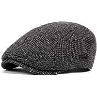 LANLEO Men's Newsboy Hat Cotton Gatsby Flat Ivy Driving Golf Cap