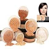Mineral Makeup 6 piece Set Natural Mineral Foundation by Intelligent Cosmetics® 100% Vegan & Never Tested on Aminals Natural SPF, Select Your Skin Colour