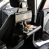 KMMOTORS Multi Table Car Back Seat Organizer Black, Travel Storage Bag