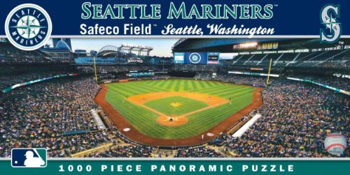 MasterPieces MLB Seattle Mariners Stadium Panoramic Jigsaw Puzzle, 1000-Piece