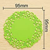 Pygan(TM) Europe 6Pcs Lace Flower Doilies Silicone Coaster Coffee Table Cup Mats Pad Placemat Kitchen Accessories Cooking Tools C5