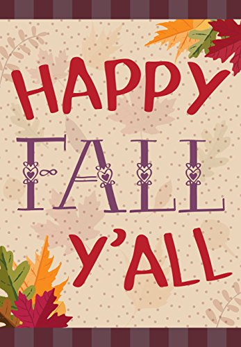 Happy Fall Yall Double Sided Garden Flag