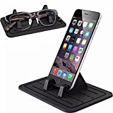 Yakecan Car Silicone Pads, Car Pad holder Dash Mat Cell Phone Mount Holder Cradle Dock Smartphones, GPS, Glasses