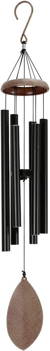 ELYXWORK Large Wind Chimes Outdoor Deep Tone, 36 Inch Memorial Wind Chimes Tuned Soothing Tone, Sympathy Gift for Loss of Loved One, Patio, Garden, Home décor (Black) : Garden & Outdoor