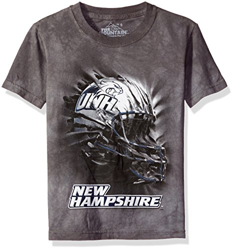 The Mountain Boys' Big Boys' University of New Hampshire Wildcats Helmet Bt Gry Youth T-Shirt, Gray, X-Large