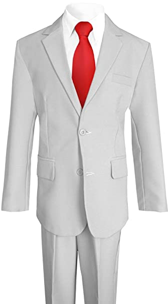 a5bc94097141dc Black N Bianco Boy's Solid Suit w/ Shirt Vest Tie and Pants: Amazon.ca:  Clothing & Accessories