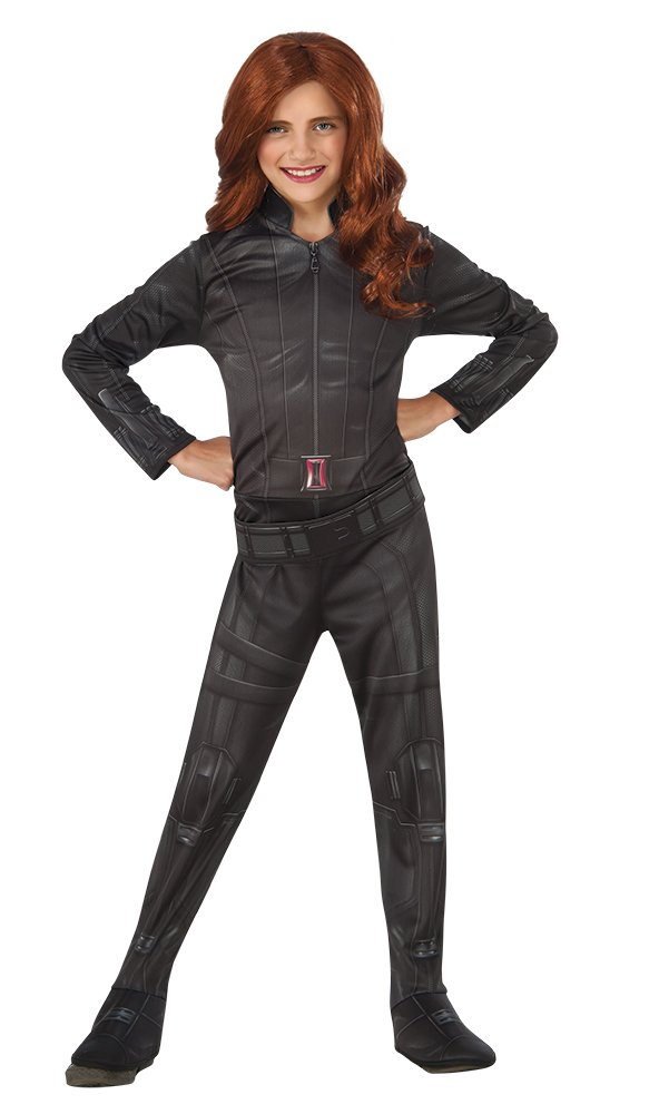 Amazon.com: Rubies Costume Captain America: Civil War Black Widow Child Costume, Small: Toys & Games