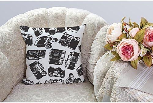 Luxsea Camera Printed Square Pillow Cover Creative Home Decor Covers