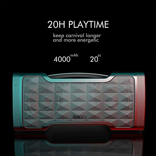 Bluetooth Speaker,Oraolo M91 Portable Bluetooth Speaker with Stereo Pairing,Waterproof,Bluetooth 5.0,100Ft Wireless Range,Speaker for Home,Outdoor,Party,Travel(Update)