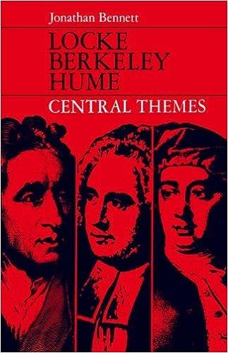 Book Locke, Berkeley, Hume: Central Themes by Jonathan Bennett (22-Apr-1971)