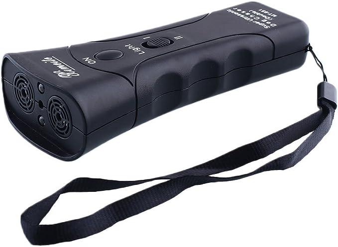 Kicode Ultras/ónico Perro Chaser Detener Mascota agresiva Entrenadores de Repelente de Ataque con Linterna LED /Útil de Manera efectiva Vivienda