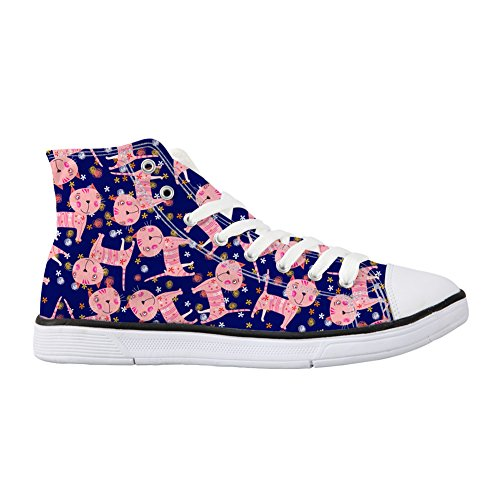 Alta Cartoon Cat Mujer Coloranimal Zapatilla 1 zxawWgS8