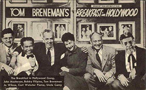 Tom Breneman's Breakfast in Hollywood Movie and Television Advertising Original Vintage Postcard