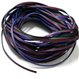 Baloray RGB Extension Cable Line 4 Color (Blue,red,green,black)20m 66ft for LED Strip RGB 5050 3528 Cord 4pin,easy Cut,welding,jointed