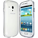 Samsung Galaxy S3 Mini i8190 Clear Transparent Tpu Rubber Gel Skin Case Cover & Screen Protector & Cleaning Cloth