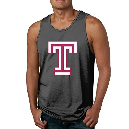 SAXON13 Funny Waistcoat For Men Temple University T Logo Size M Black]()