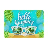 My Daily Hello Summer Sunglasses Palm Leather Passport Holder Cover Case Protector
