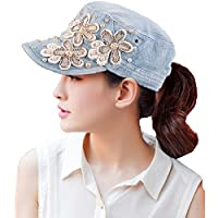 Yimidear Female UV Sun Hat Cowboy Hat Lady Summer Outdoor Sports Visor Cap Women Baseball Cap Peaked Cap