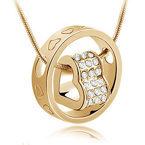 Atasi International Gold Ring Heart Pendant Set …