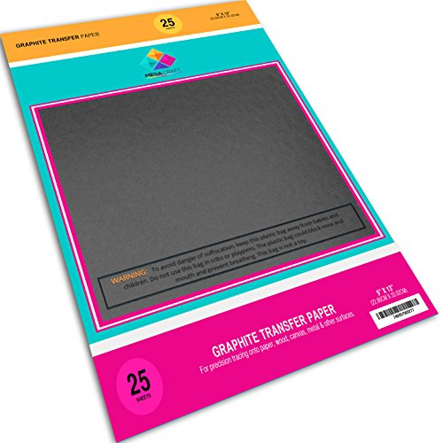Graphite Transfer Carbon Paper - 25 Sheets (9
