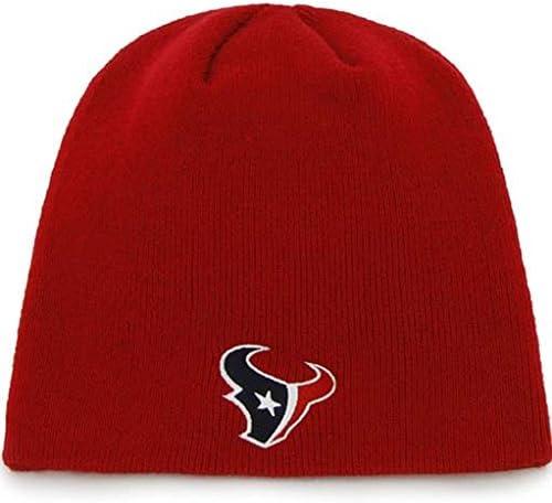 Red Houston Texans Cuffless Knit Beanie Hat Cap