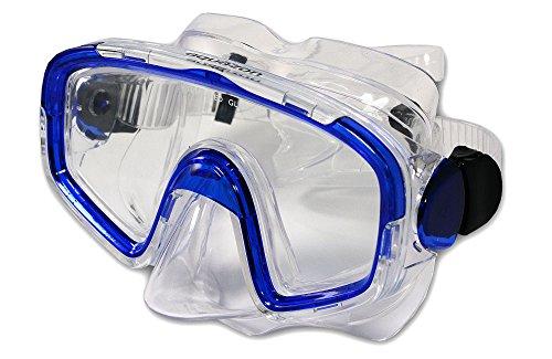 Aquazon Taucherbrille, Tauchmaske, Tauchermaske Shark, Blau Transparent, M, AQMASHBL