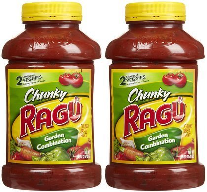 Ragu Chunky Pasta Sauce, Garden Combination, 45 Ounce Bottles (Pack of 2)