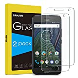 Moto G5 Plus Screen Protector, SPARIN 2 Pack Glass Screen Protector for Motorola Moto G Plus 5th Gen with Ultra Clear, Scratch Resistant, High Definition, 5.2 inch