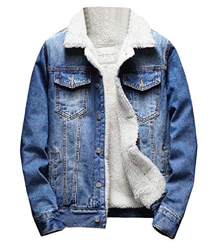 Fitted Pattern10 Outerwear Men's Denim Overcoat Plus Energy Velvet Thicken Cotton gqzYB