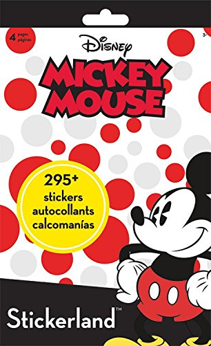 Stickerland Pad - Mickey Mouse - 4 pages Toys Gifts Stationery New (New Stationery)