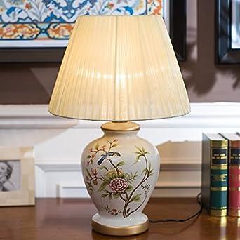 Lámparas de mesa de cerámica lámpara de mesilla dormitorio Jardín ...