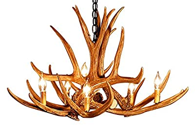 Rustic Mule Deer 6 Antler Chandelier with 6 Lights by Muskoka lifestyle Products