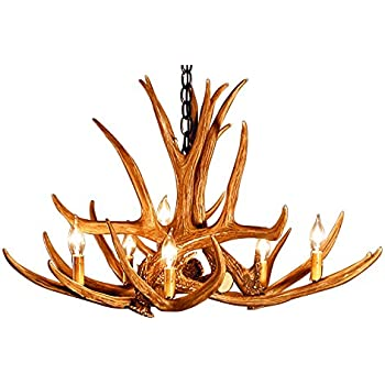Great Rustic Mule Deer 6 Antler Chandelier With 6 Lights By Muskoka Lifestyle  Products