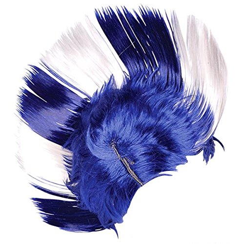 Expression Gifts Blue and White Mohawk Wig Costume Accessory (For Kids Wig Blue Mohawk)