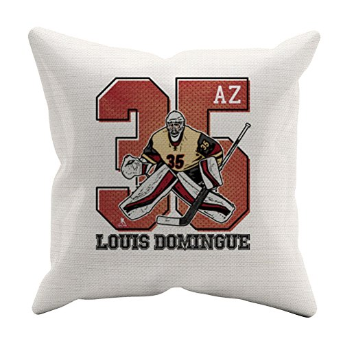 """Louis Domingue Game R Arizona Throw Pillow 20"""" x 20"""" White"""
