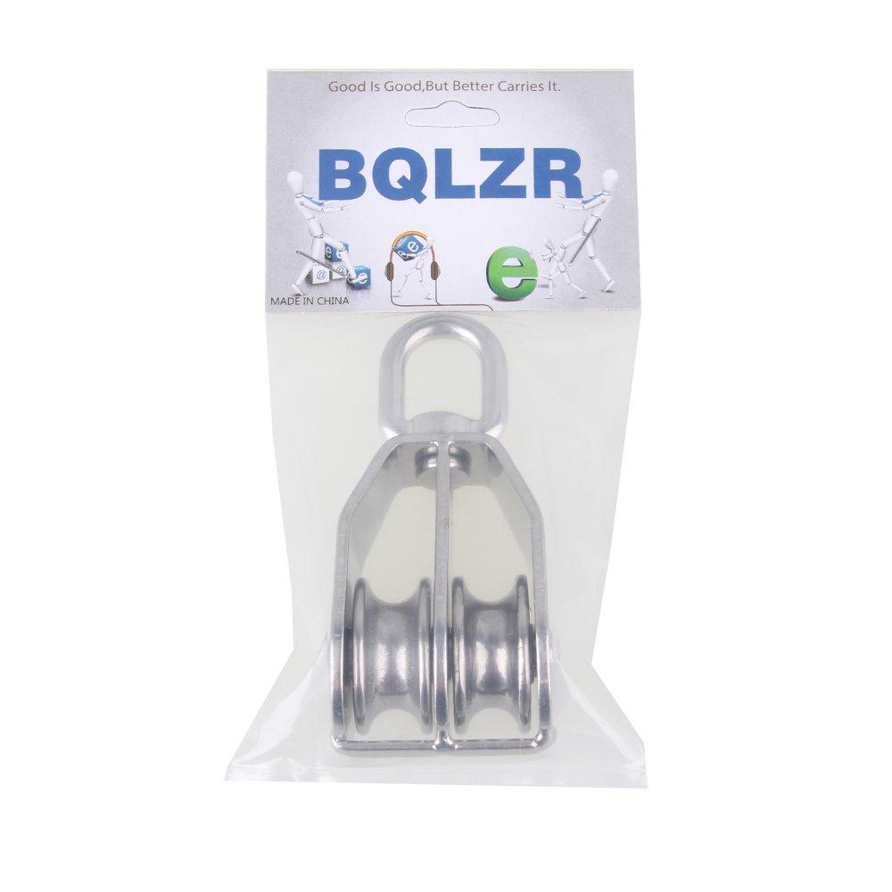 BQLZR Poulie double pivotante en acier inoxydable 304 Taille M32 32 mm