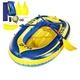 Slimerence Inflatable Boat Set, 1-Person Fishing Swimming Water Sports Inflatable Boat Kayak